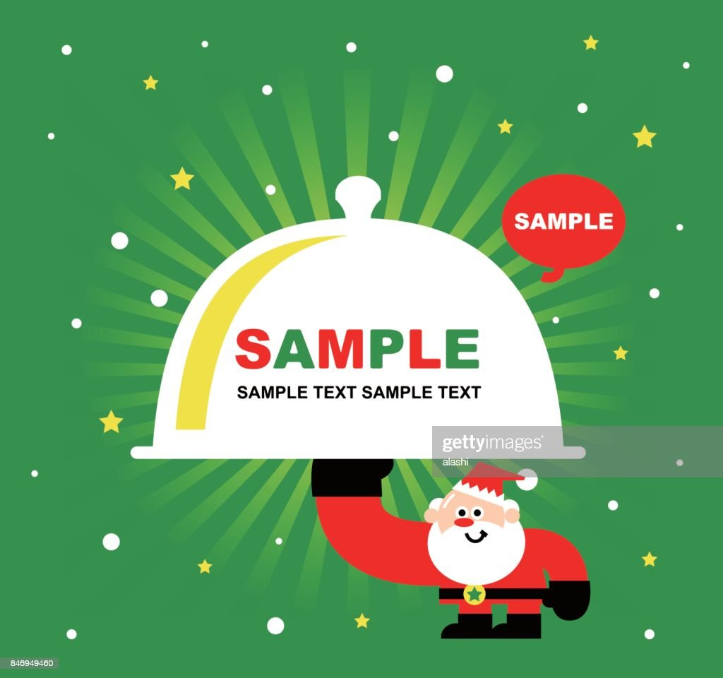 Merry Christmas And New Year Greeting Card Cute Santa Claus Chef