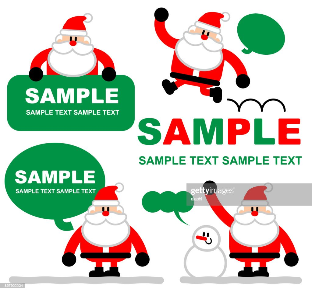 merry christmas and new year greeting card cute santa claus holding a blank sign with