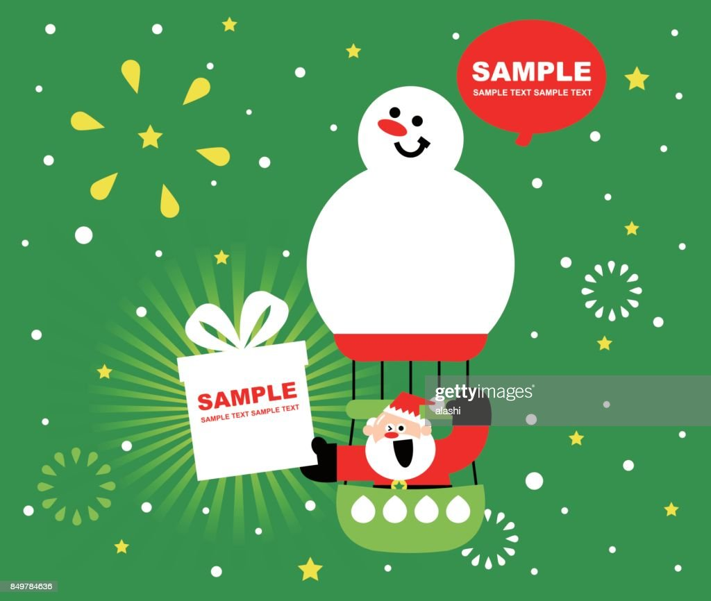Merry christmas and new year greeting card cute smiling santa claus merry christmas and new year greeting card cute smiling santa claus sitting on a snowman m4hsunfo