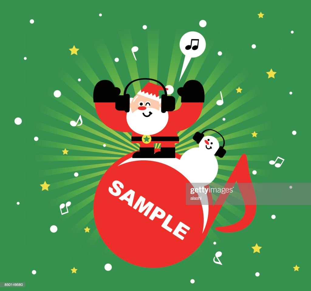 Merry Christmas And New Year Greeting Card Santa Claus And Snowman