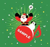 merry christmas cartoon characters design full
