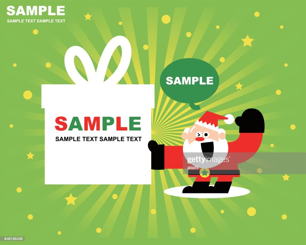 Merry Christmas And New Year Greeting Card With Santa Claus And