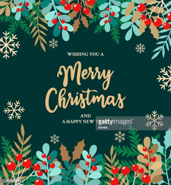merry christmas background - mistletoe stock illustrations