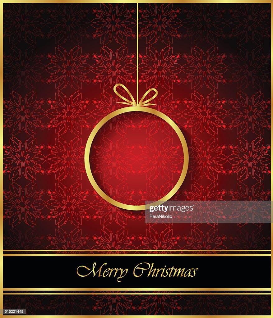 メリークリスマスの背景。 : ベクトルアート