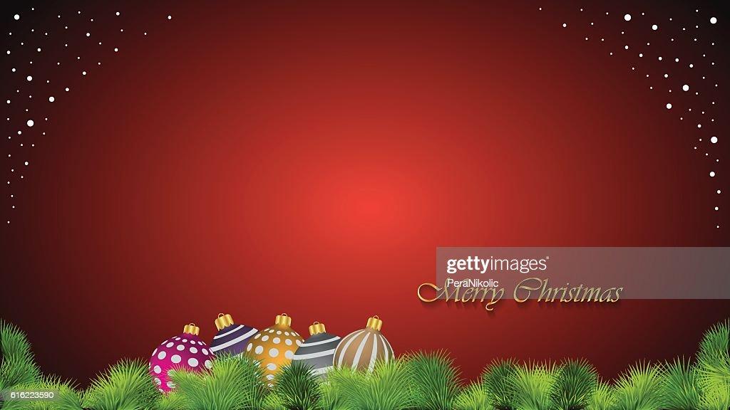 Merry Christmas background. : Vektorgrafik