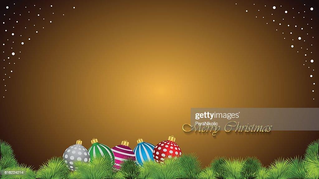 Buon Natale sfondo. : Arte vettoriale