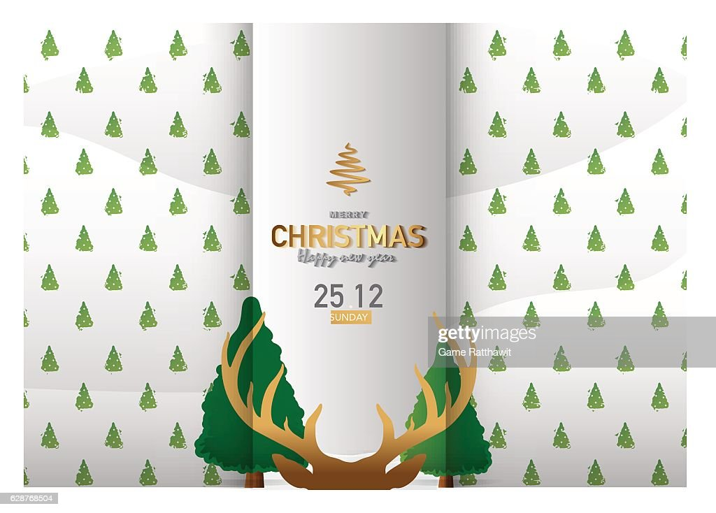Merry Christmas Background Vector Illustration Ep2.3