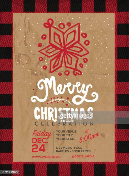 merry christmas celebration invitation design - frost stock illustrations, clip art, cartoons, & icons