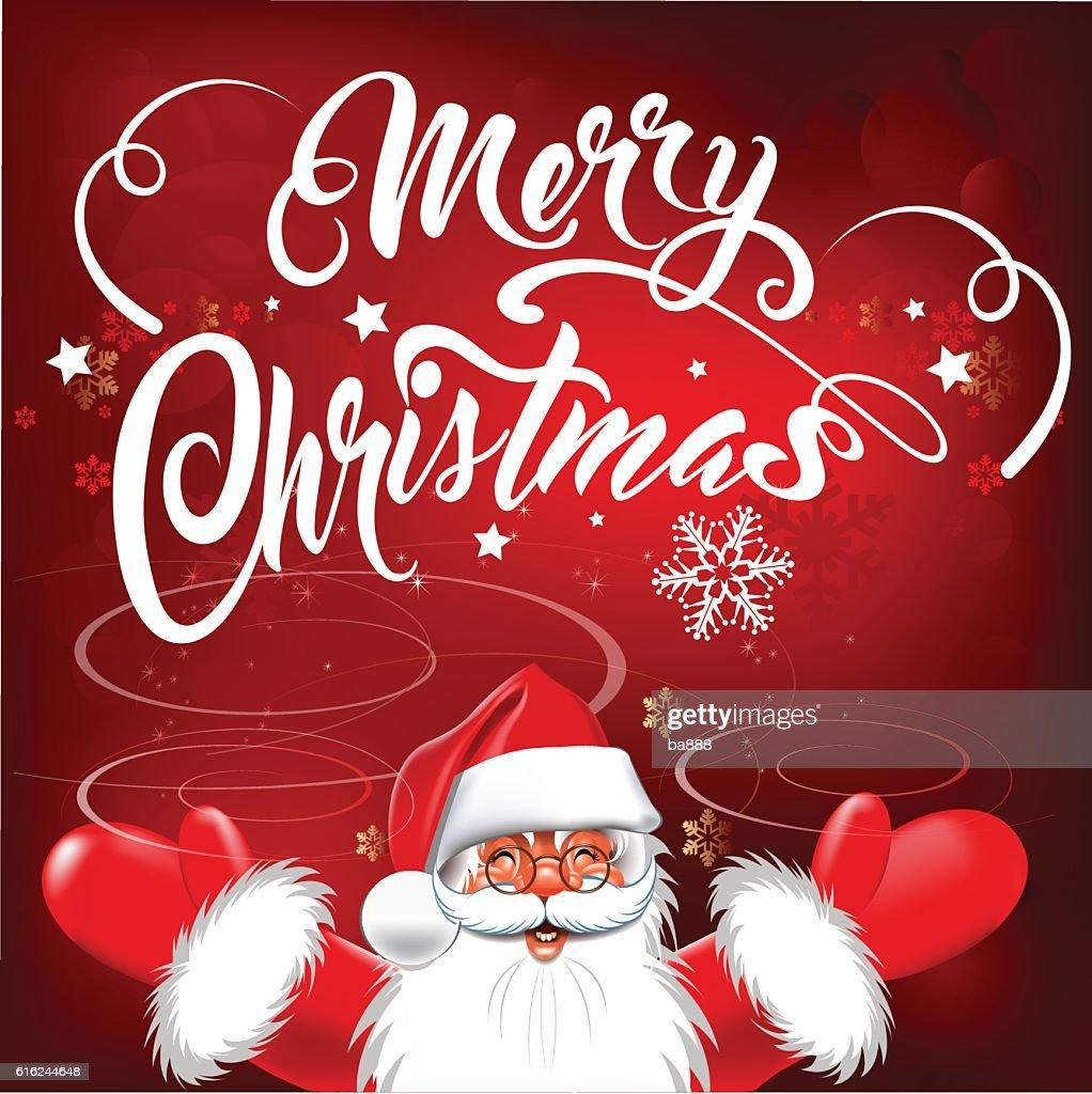 merry christmas, christmas card, santa : Vector Art