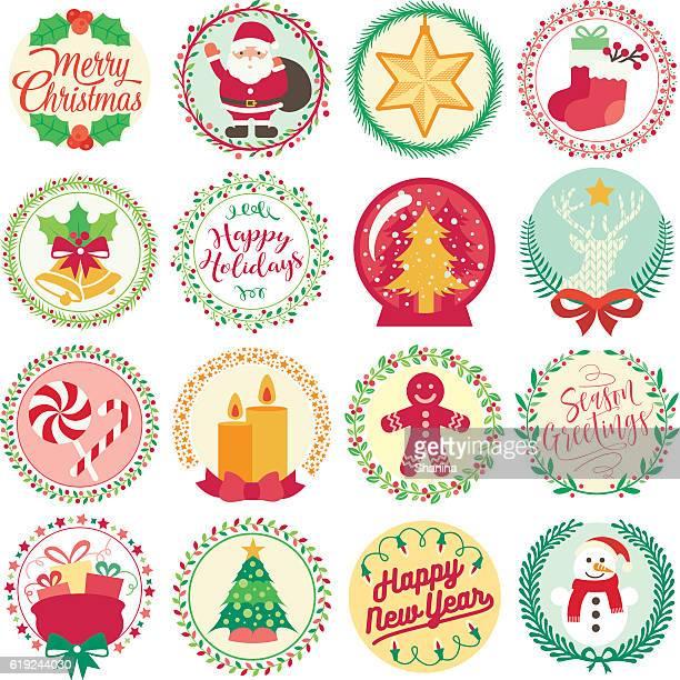 Merry Christmas - Circle Icons