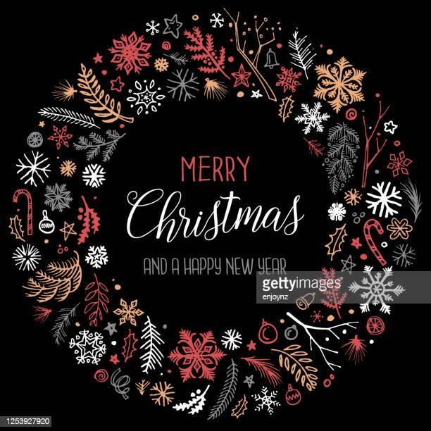 メリークリスマスサークルイラスト - クリスマスマーケット点のイラスト素材/クリップアート素材/マンガ素材/アイコン素材