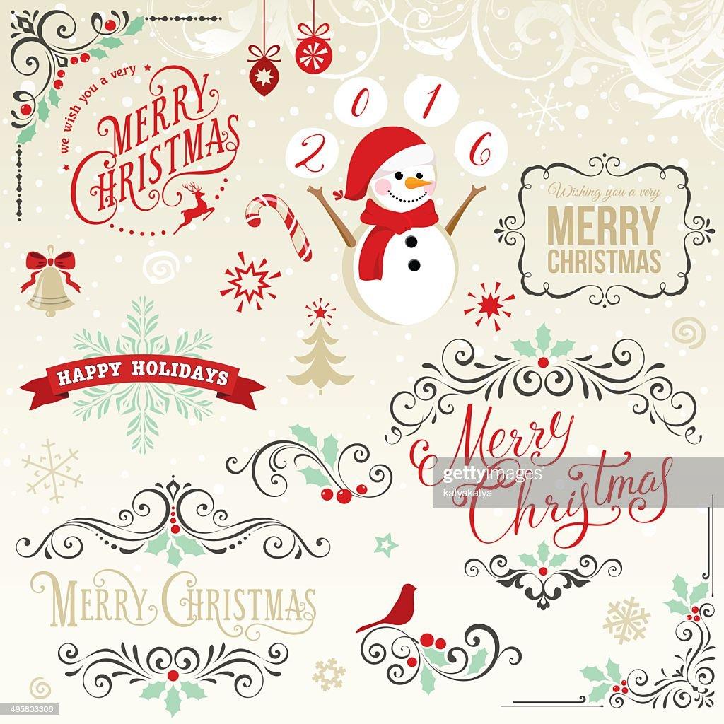 Merry Christmas Elements Set