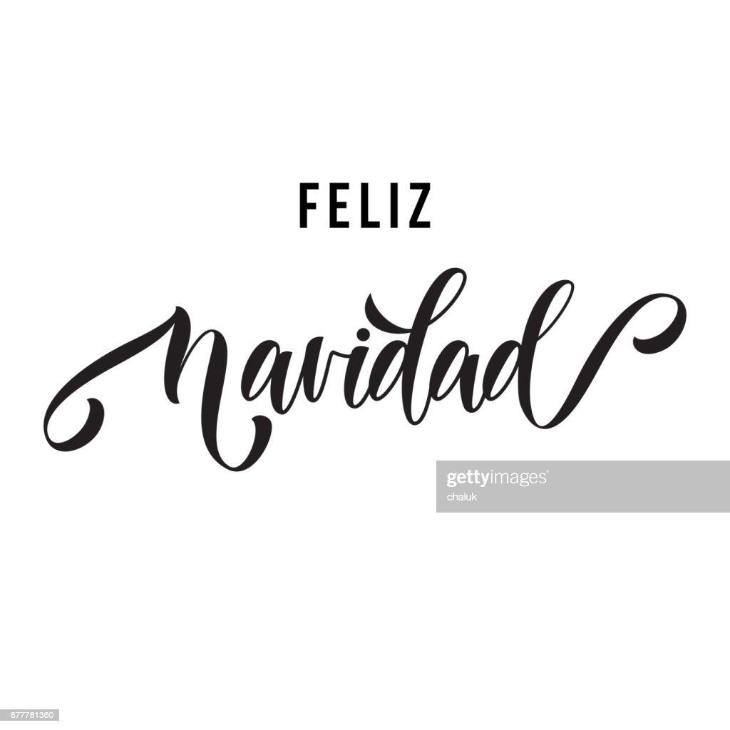 Merry christmas feliz navidad hand drawn calligraphy modern merry christmas feliz navidad hand drawn calligraphy modern lettering text for spanish christmas greeting card m4hsunfo