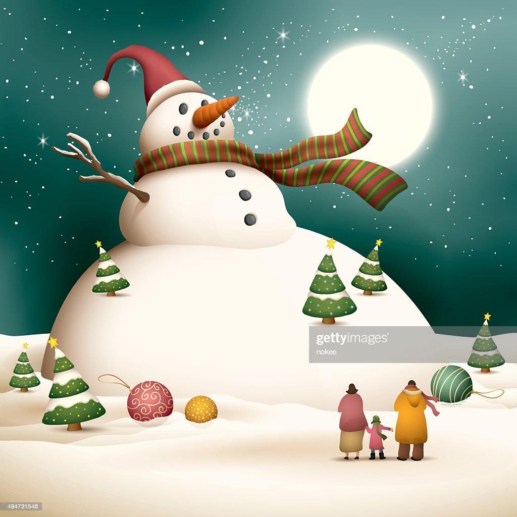 Merry Christmas - giant snowman