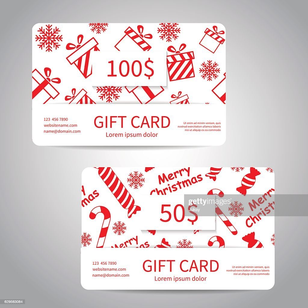 Merry Christmas Gift Card Vector Art | Getty Images