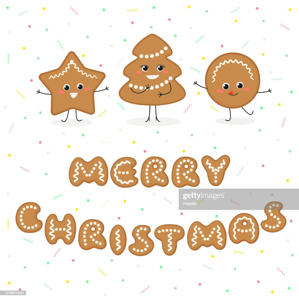 Merry Christmas gingerbread funny cookies