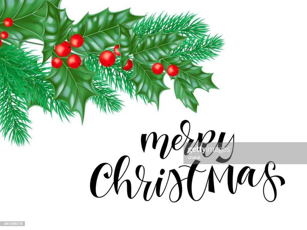 Merry Christmas Greeting Card Background Design Template Of Hand