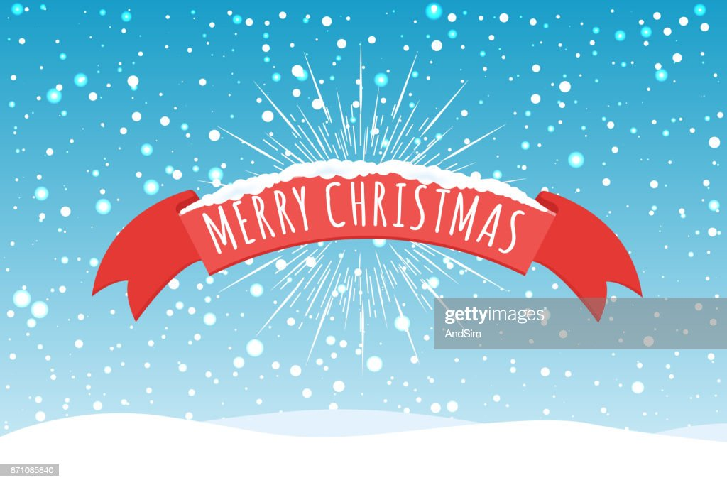 Merry Christmas Greeting Card background. Vector illustration.