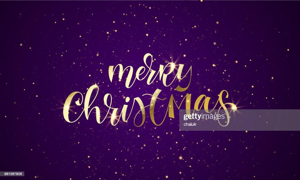 Citaten Kerst En Nieuwjaar : Merry christmas wenskaart van goud glitter confetti of