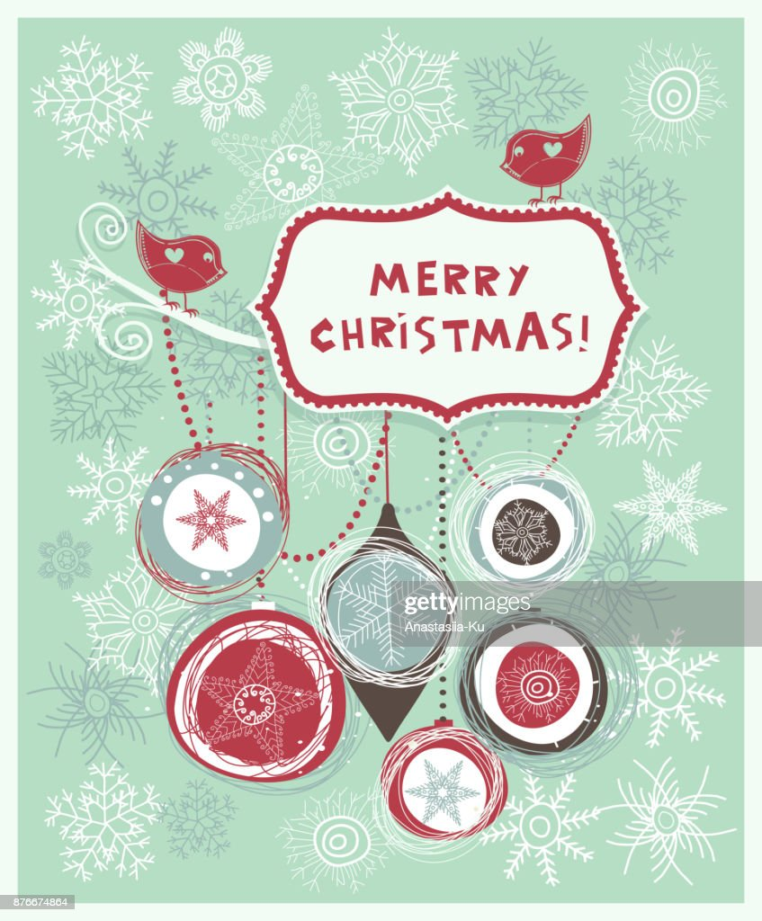 Frohe Weihnachten Gruß Design Weihnachteneinladung Vintagerahmen ...