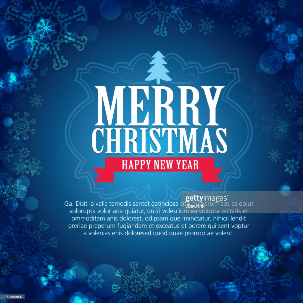Merry Christmas Greeting Template Design Vector Art Getty Images