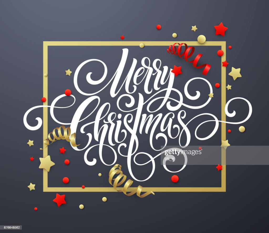 Frohe Weihnachten Handschrift Skript Schriftzug Weihnachten ...