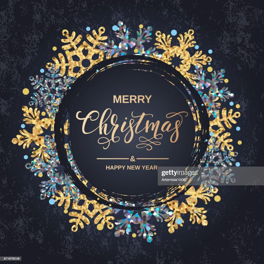 Frohe Weihnachten Handschrift Skript Schriftzug Weihnachtsgruß Mit ...