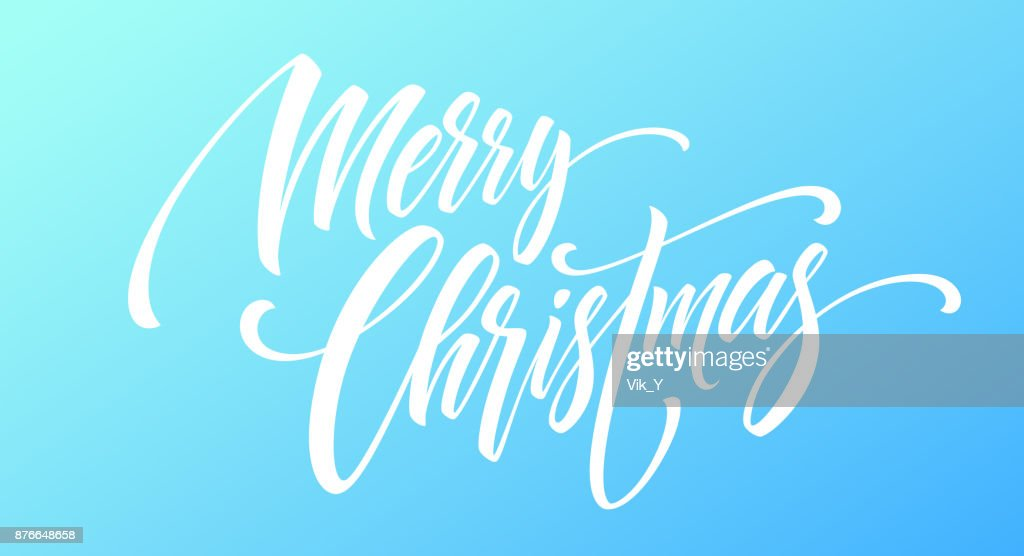 Frohe Weihnachten Handschrift Skript Schriftzug Auf Einem Hellen ...
