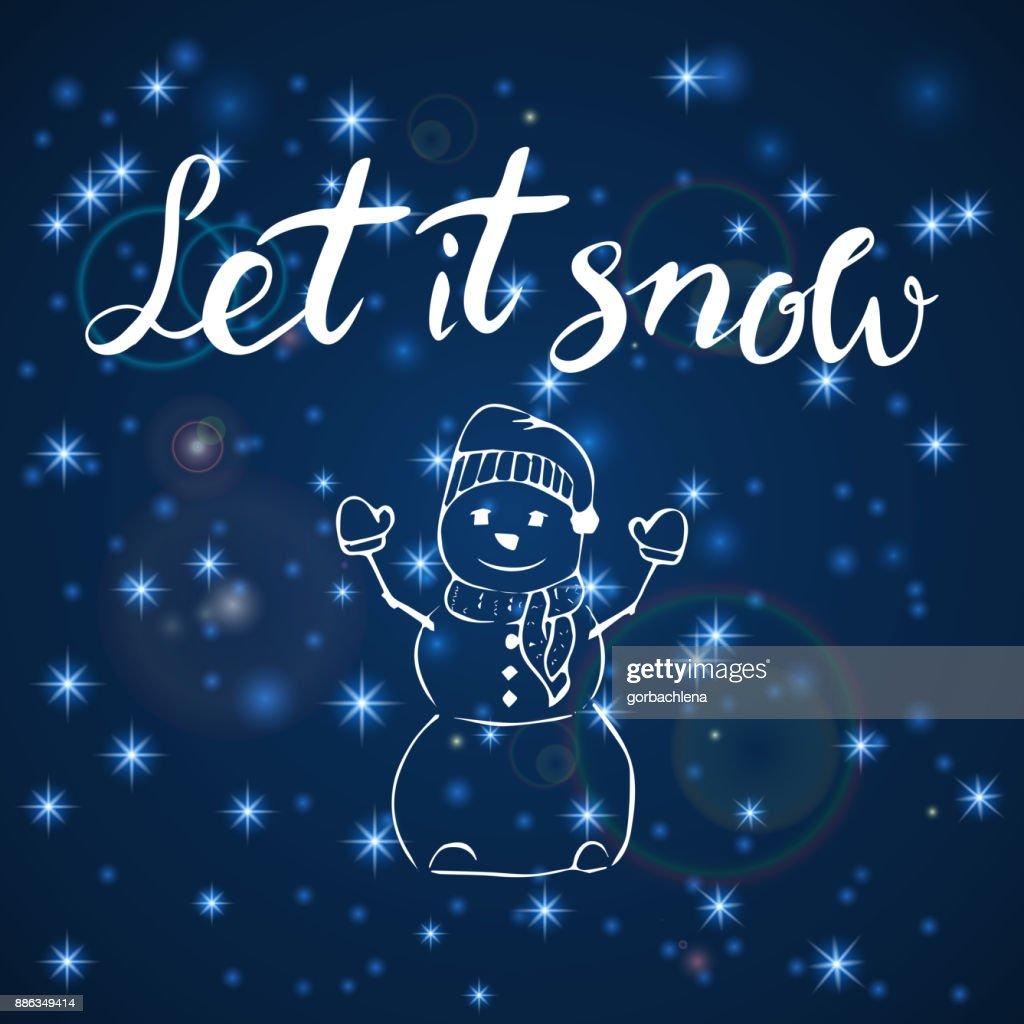 Merry Christmas Happy New Year 2018 Greeting Card Let It Snow