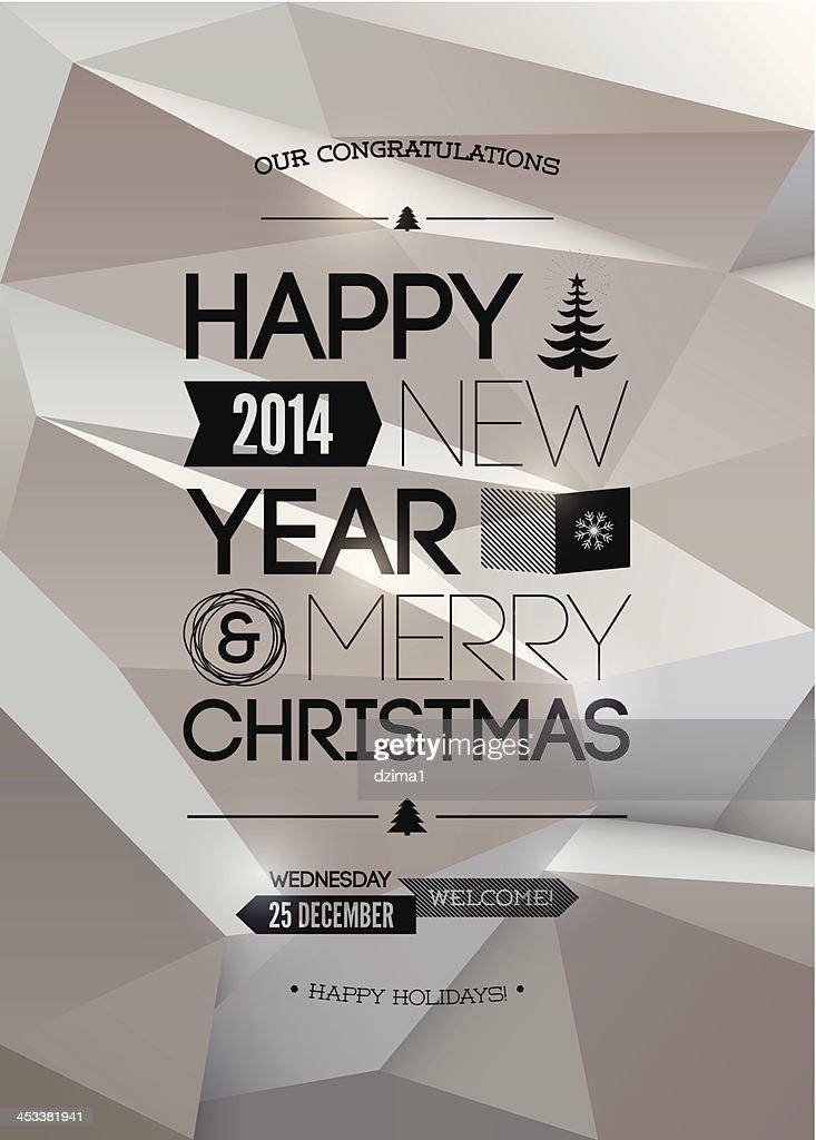 Merry Christmas & Happy New Year design. Vector illustration. Eps 10