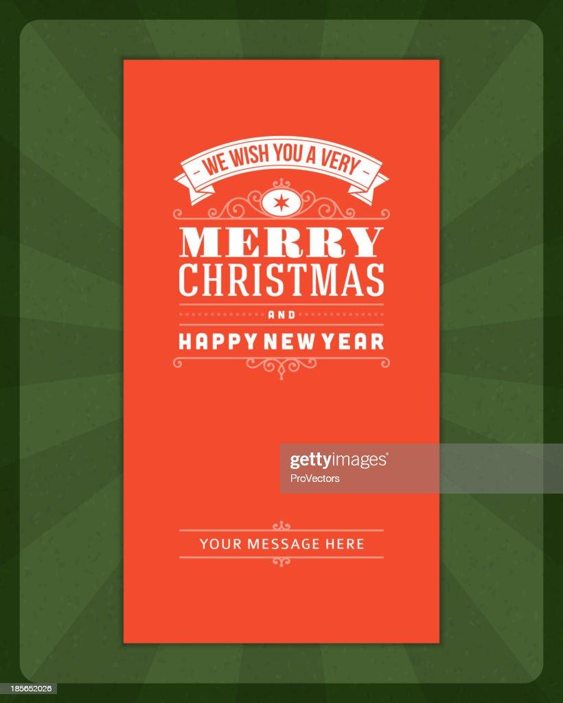 Merry Christmas Invitation Card Ornament Decoration