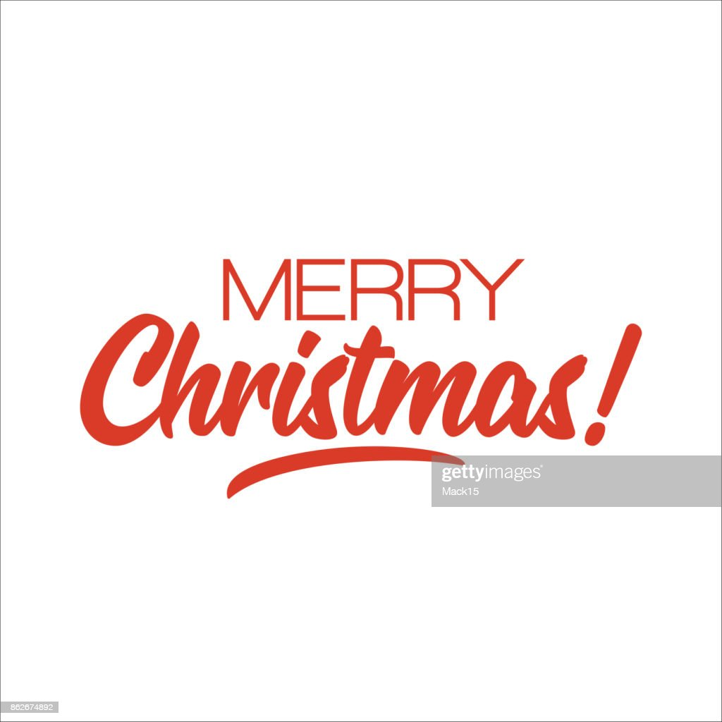 Frohe Weihnachten Schriftdesign Vektor Vektorgrafik | Getty Images