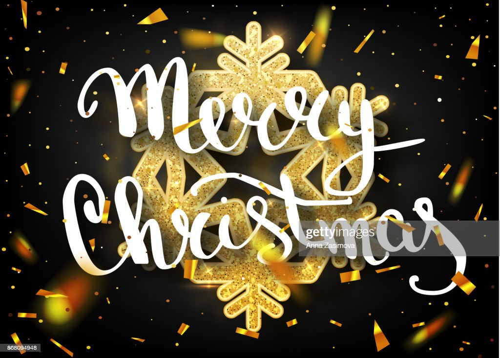 Schriftzug Frohe Weihnachten Beleuchtet.Frohe Weihnachtenschriftzug Grusskarte Fur Urlaub Gold