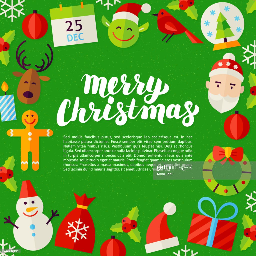 Merry Christmas Lettering Poster