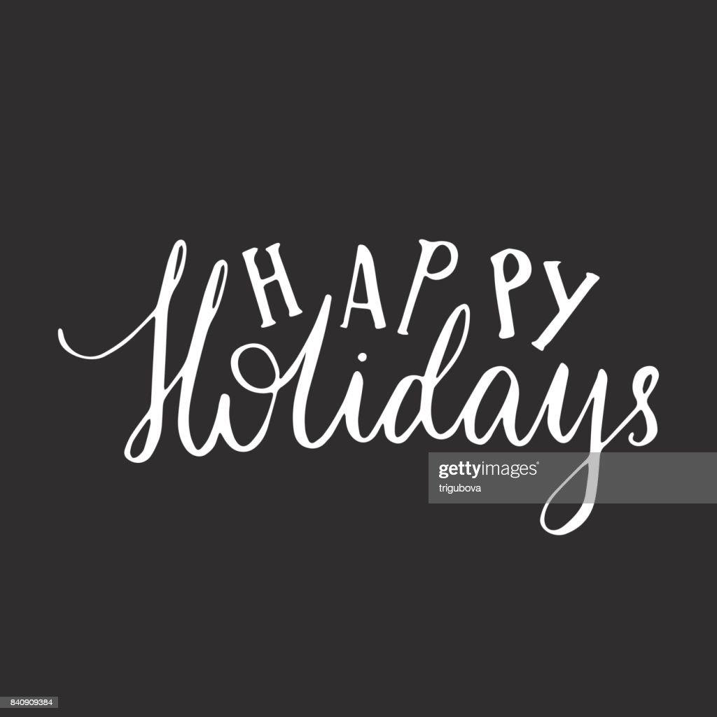 Frohe Weihnachtenschriftzugtypografie Handschrifttextdesign Mit ...