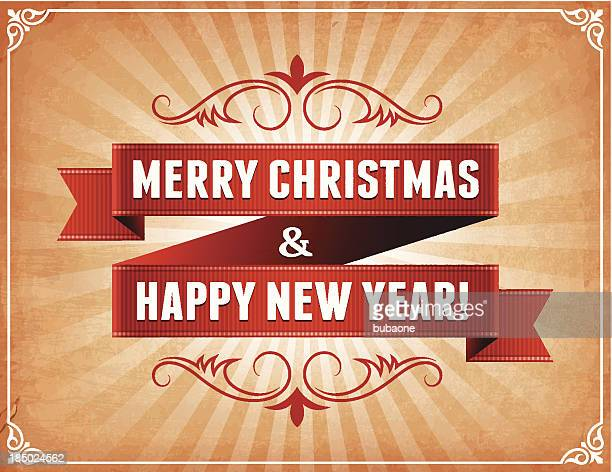 merry christmas & new year's holiday greeting cards - christianity stock illustrations