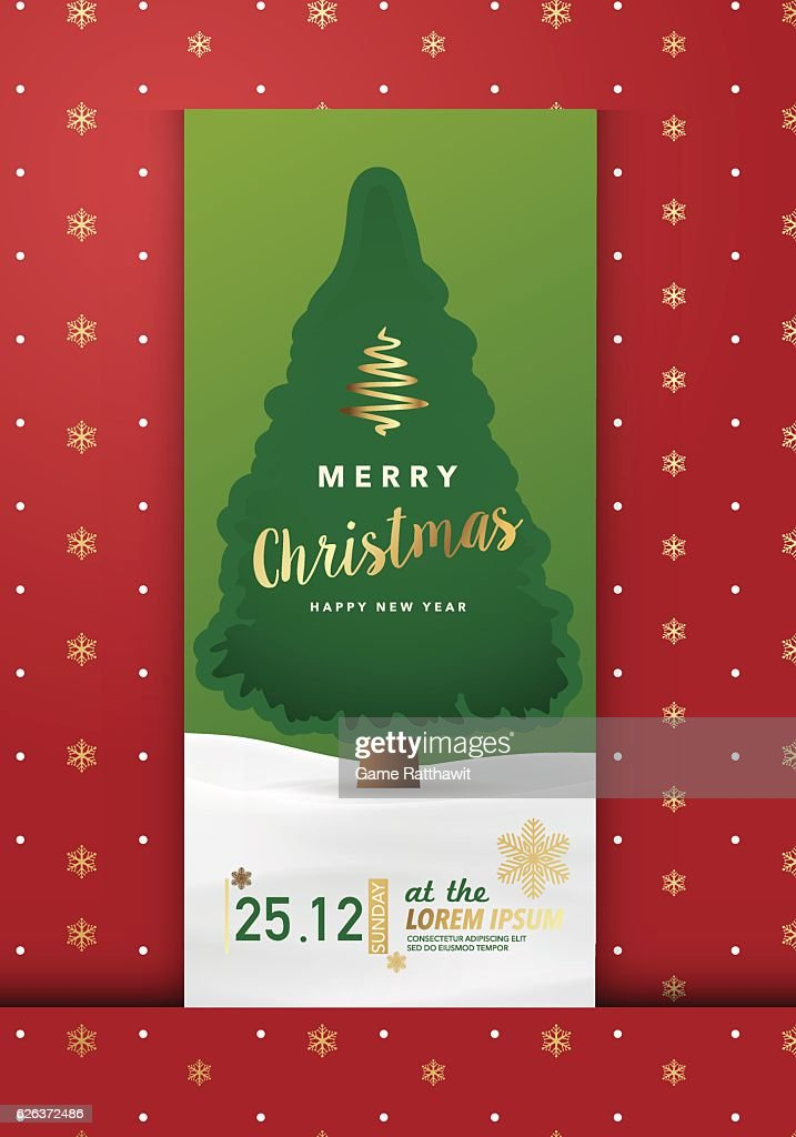 Merry Christmas Party Invitation Card, Background, Vector Illustration Design Ep03