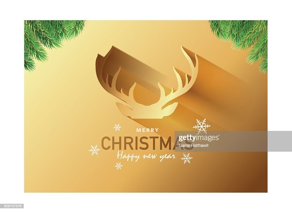 Merry Christmas Party Invitation Card, Background, Vector Illustration Design Ep10
