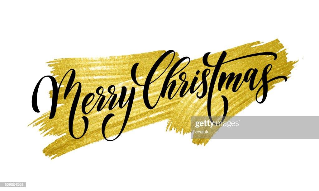 Schriftart Weihnachten.Frohe Weihnachten Zitat Grußkarte Kalligraphie Vektor Schriftart