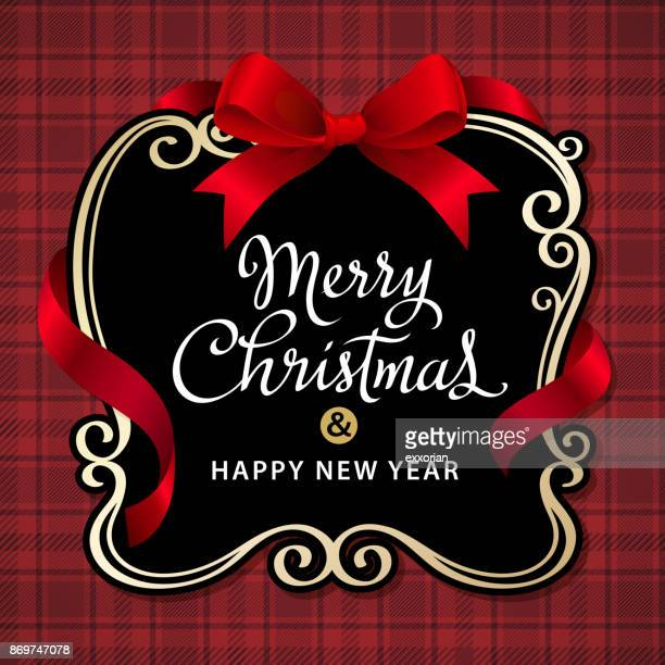 Merry Christmas Ribbon Frame