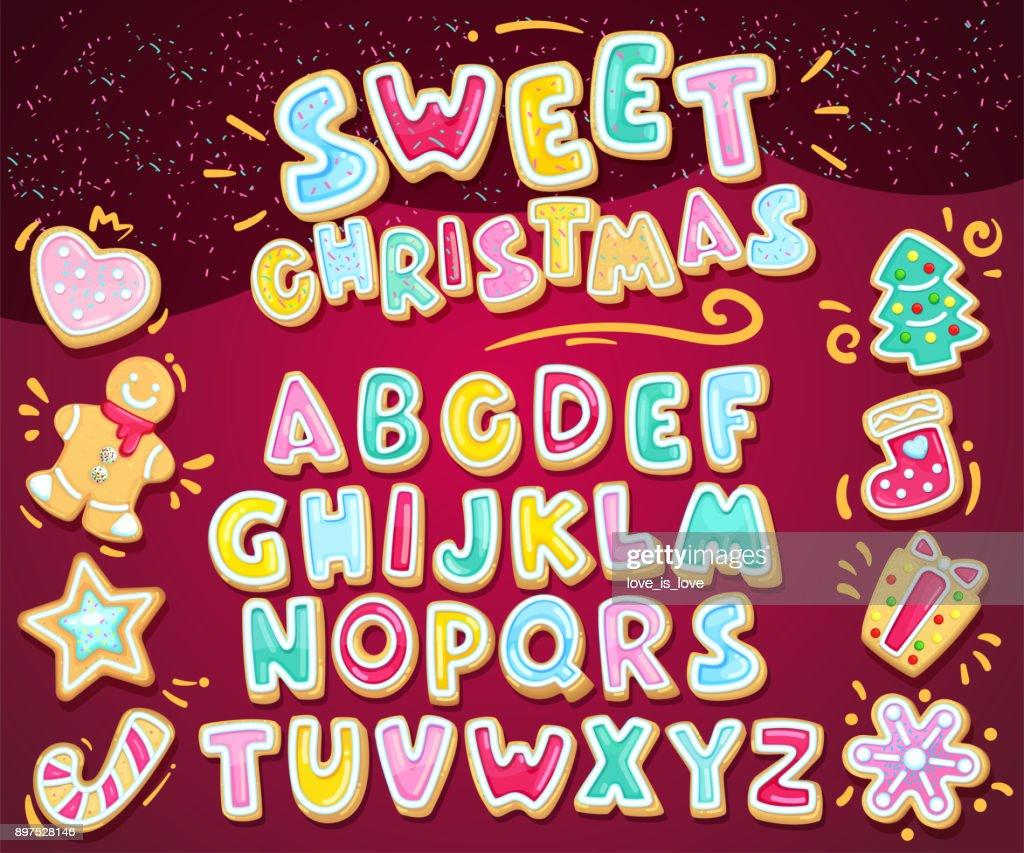 Merry christmas sweet font.