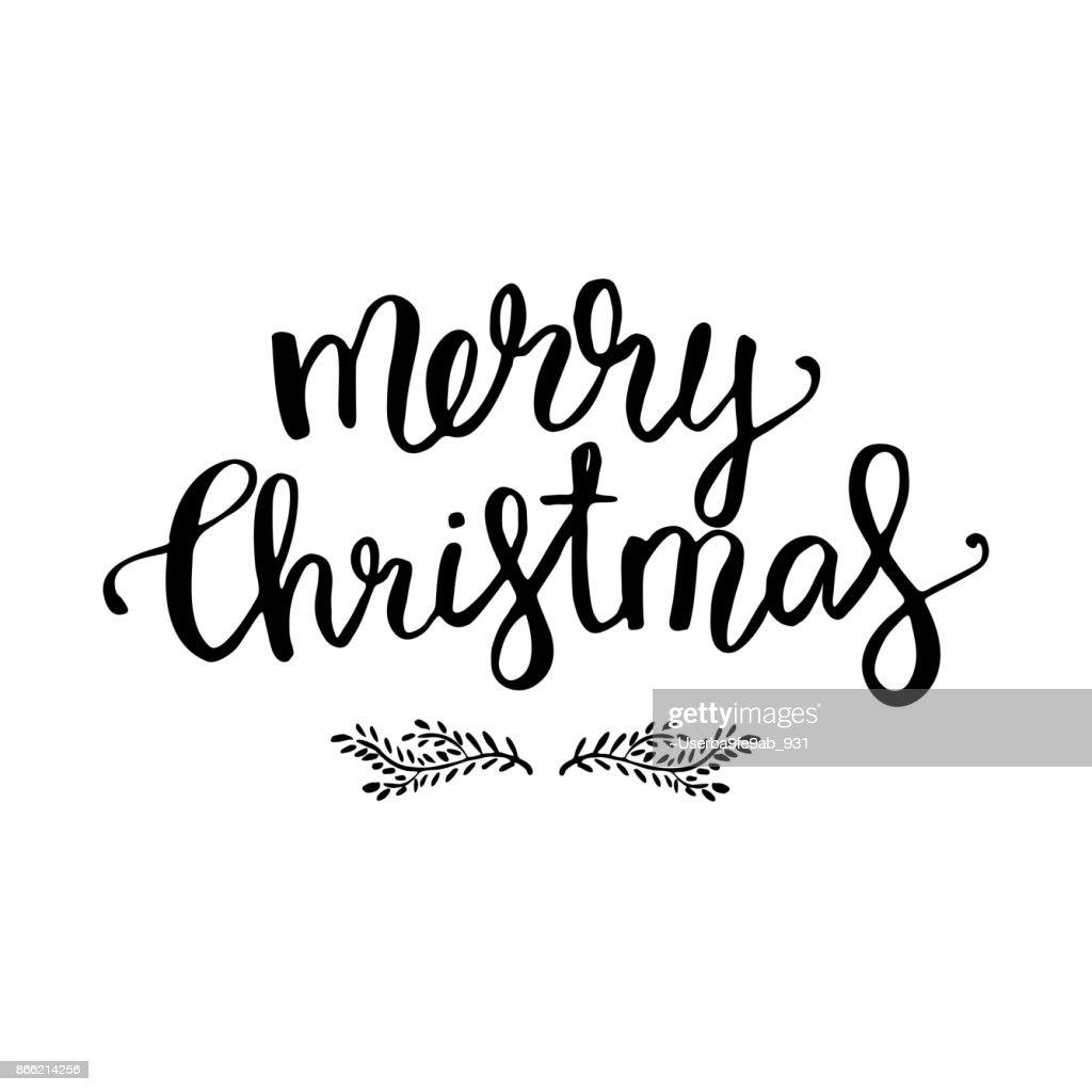 Frohe Weihnachtentext Kalligraphische Schrift Neujahr Und ...