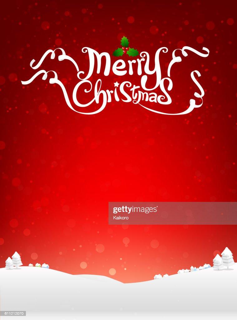 Merry christmas text with snow bakcground vector illustration ep