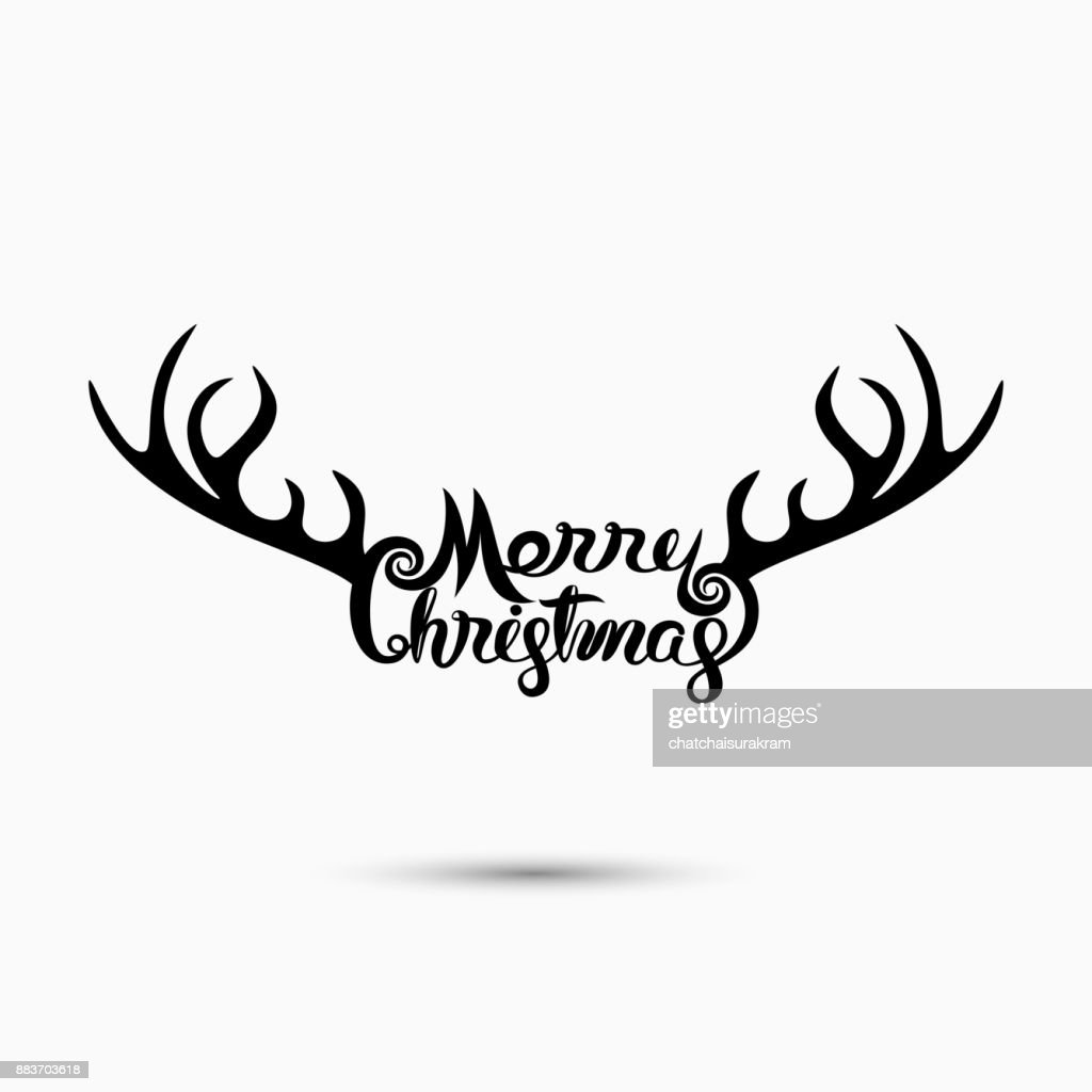 Merry Christmas Typographical Design Elementsmerry Christmas Vector Text Calligraphic Lettering Design Card Templatecreative Typography For Holiday Greeting Postercalligraphy Font Style Bannervector Illustration High Res Vector Graphic Getty Images