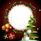 christmas background with white central circle