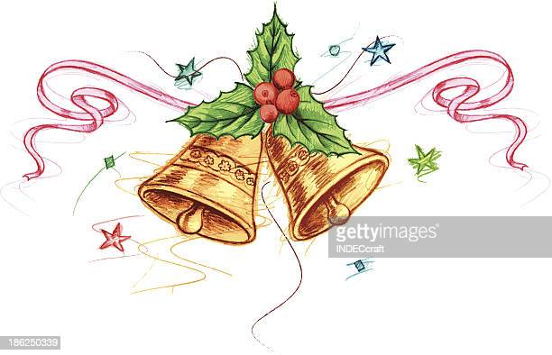 merry christmas - chinese lantern lily stock illustrations