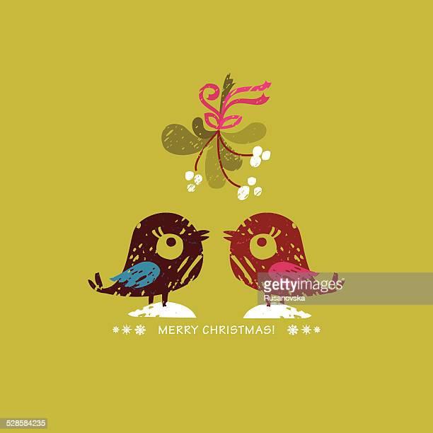 merry christmas! - mistletoe stock illustrations, clip art, cartoons, & icons