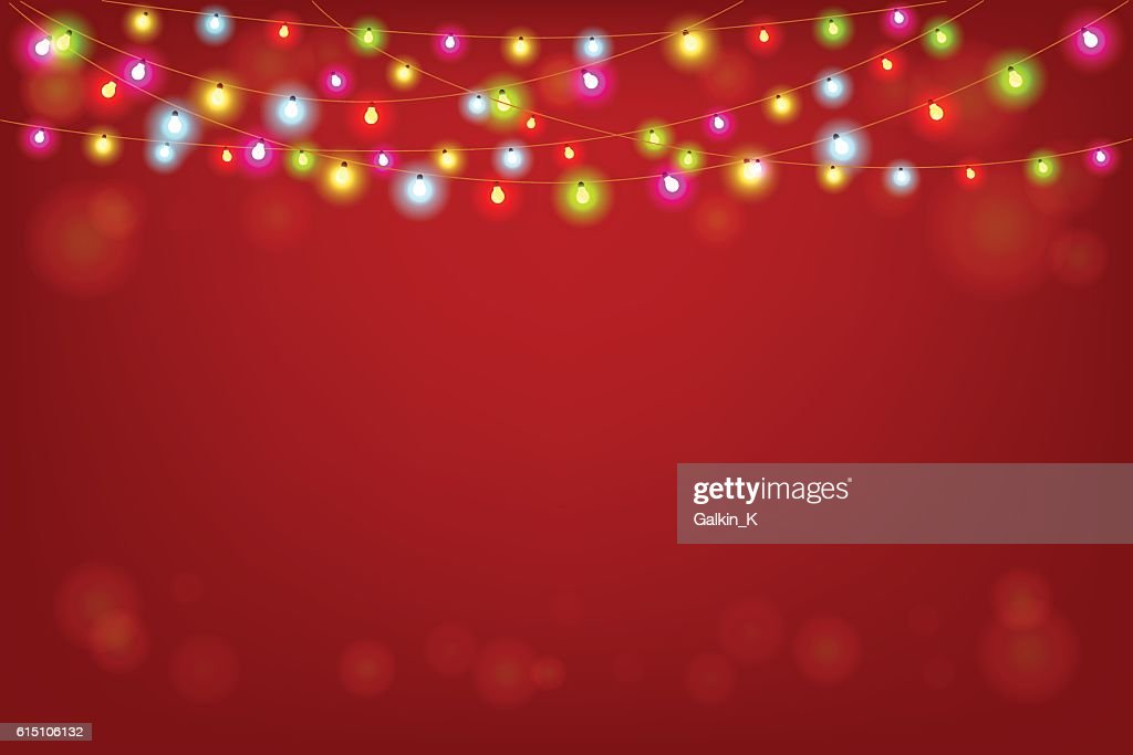 Merry Christmas vector illustration with copy space