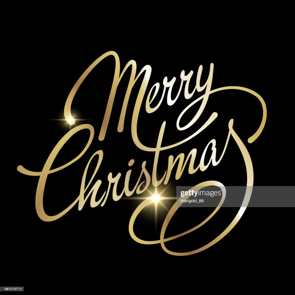 Merry Christmas Vector Lettering