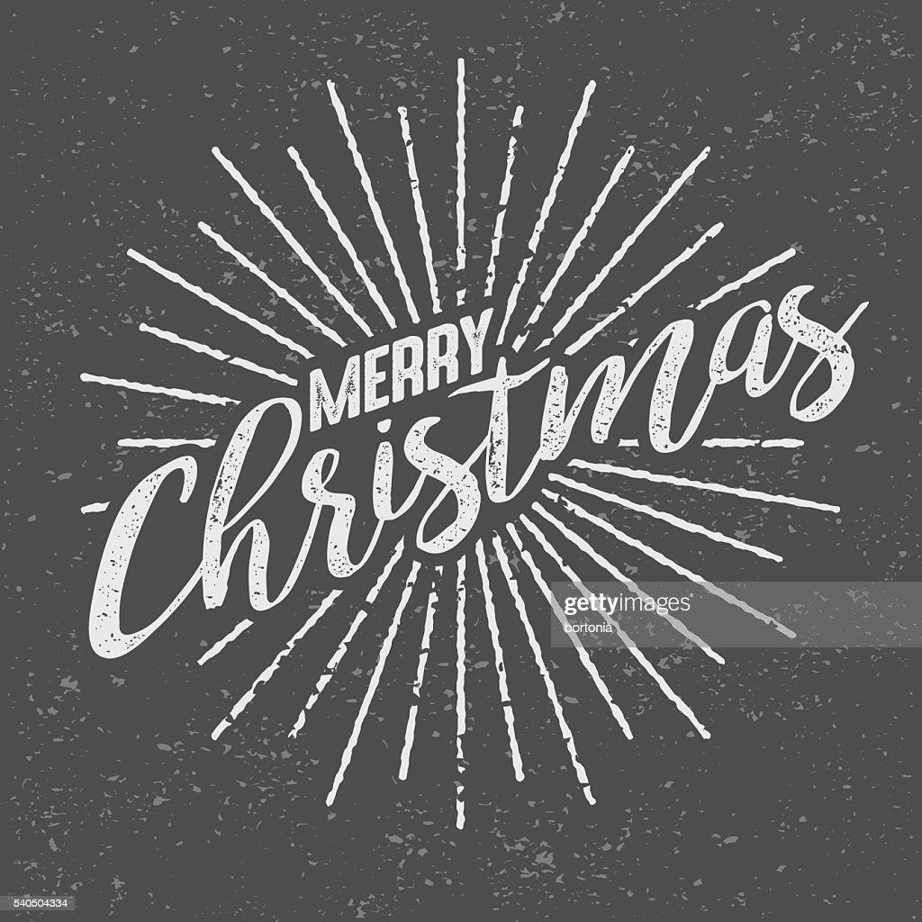 メリークリスマスのビンテージのスクリーンプリント ベクトルアート